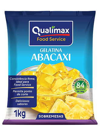 GELATINA ABACAXI QUALIMAX 1KG