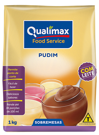 Pudim de Chocolate Com Leite Qualimax