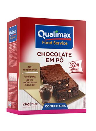 Chocolate em Pó Qualimax 32% Cacau 2kg
