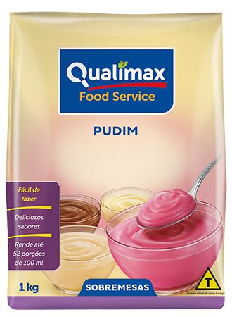 Pudim de morango Qualimax