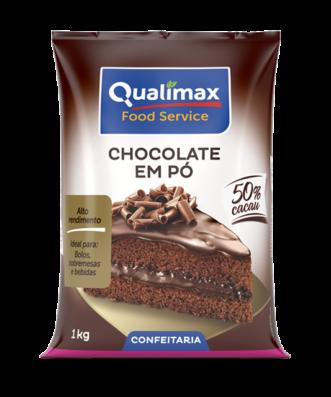 Chocolate em Pó Qualimax 50% Cacau 1Kg