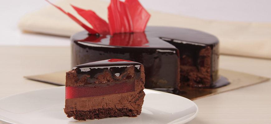 Entremet de Chocolate Com Framboesa