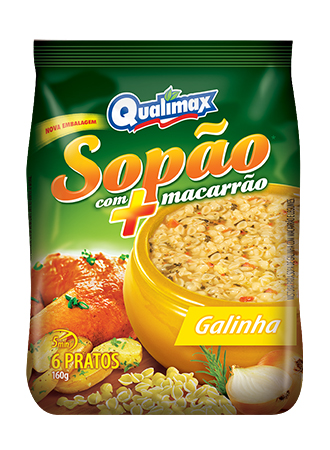 Sopão com Macarrão Galinha Caipira com Legumes