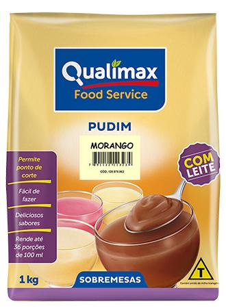 PUDIM MORANGO COM LEITE QUALIMAX
