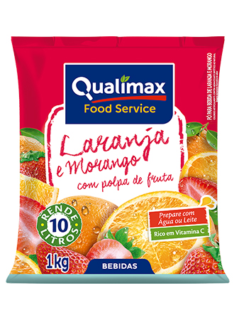 ORANGE AND STRAWBERRY DRINKING POWDER QUALIMAX