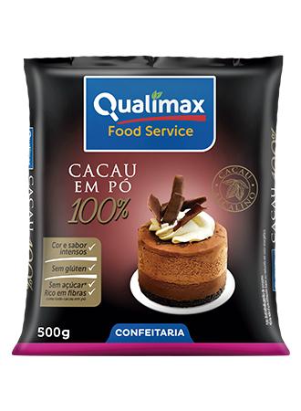 Chocolate em Pó Qualimax 100% Cacau 500g
