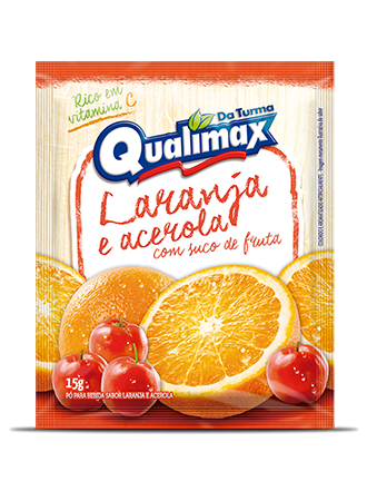 ORANGE AND ACEROLA DRINKING POWDER QUALIMAX