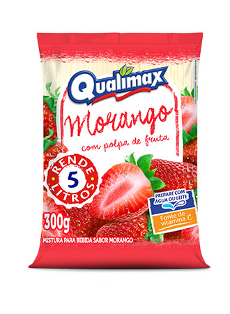 STRAWBERRY DRINKING POWDER QUALIMAX 300GR